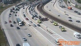 Dan Ryan express lanes open after crash at 43rd