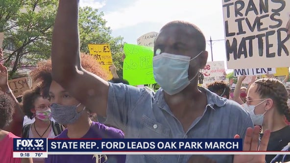 State Representative LaShawn Ford leads suburban march