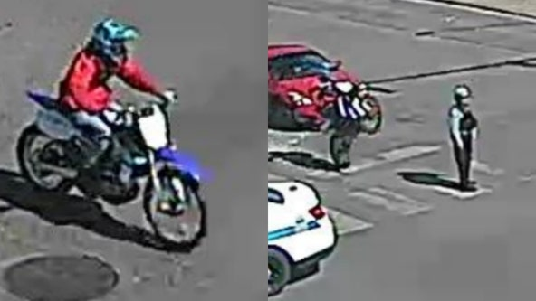 Police looking for dirt bike rider who struck Chicago cop on West Side