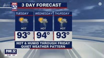 Evening forecast for Chicagoland on July 6th