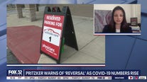 Gov. Pritzker warns of 'reversal' as COVID-19 numbers rise around Illinois