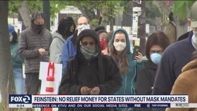 Feinstein: No stimulus money to states that don't mandate the wearing of masks