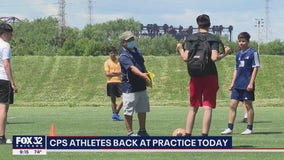 CPS athletes return to practice field for first time since coronavirus pandemic began