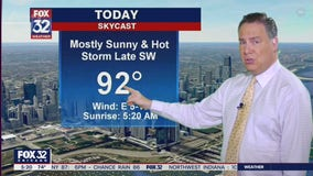 Morning forecast for Chicagoland on July 1st