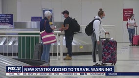 More states added to Chicago's travel quarantine as cases surge around the nation