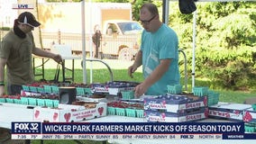 Wicker Park Farmers Market reopens for 20th anniversary