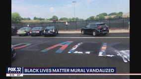 Vandals alter BLM mural in Oak Park to say 'All Lives Matter'