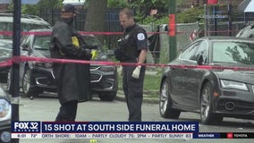Police search for gunman responsible for 15 shot outside Chicago funeral home