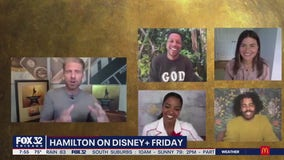FOX 32's Jake Hamilton talks to the original Broadway cast of Hamilton