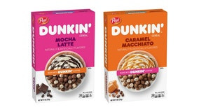 Dunkin', Post team up for coffee-flavored cereal