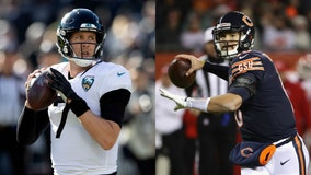 Bears' QB battle between Trubisky, Foles about to heat up