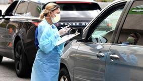 Mobile coronavirus testing site placed outside suburban school
