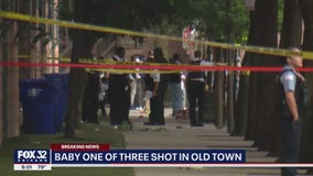 Baby among 3 shot on Chicago's North Side; suspects in custody