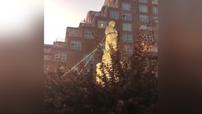 Christopher Columbus statue toppled and thrown into harbor in Baltimore