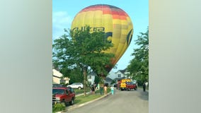 Hot air balloon makes emergency landing after 80-year-old passenger passes out in McHenry County