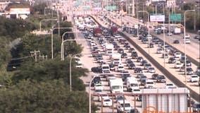 Inbound Kennedy express lanes reopen at Ogden after crash sends person to hospital