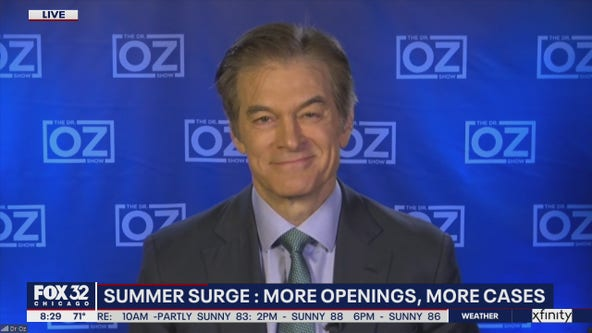 Dr. Oz discusses the summer surge in COVID-19 cases