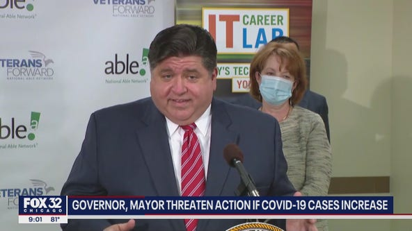 Pritzker warns he will implement restrictions again if COVID numbers continue to rise