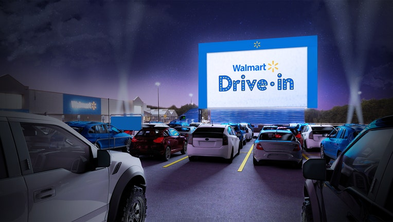 walmart drive in movie theater