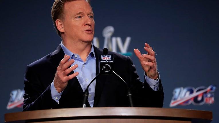 34cded78-NFL Commissioner Roger Goodell Super Bowl Press Conference
