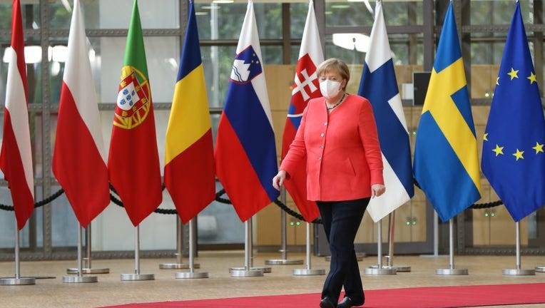 4f3e4609-EU Leaders Meet In Brussels For COVID-19 Crisis Talks