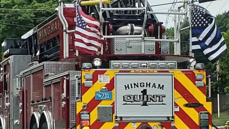 Thin-Blue-Line-Flag-Hingham-Firefighters-Local-2398