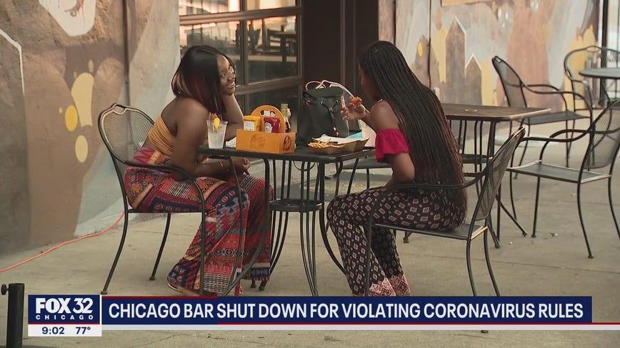 Chicago bar shut down, fined for breaking coronavirus rules