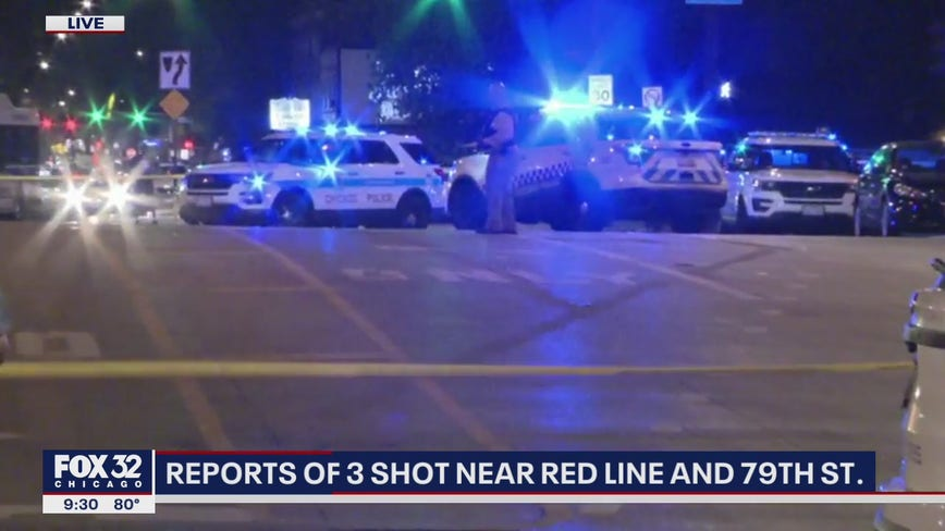 Girls, 13 and 16, among 3 shot near 79th Street Red Line station