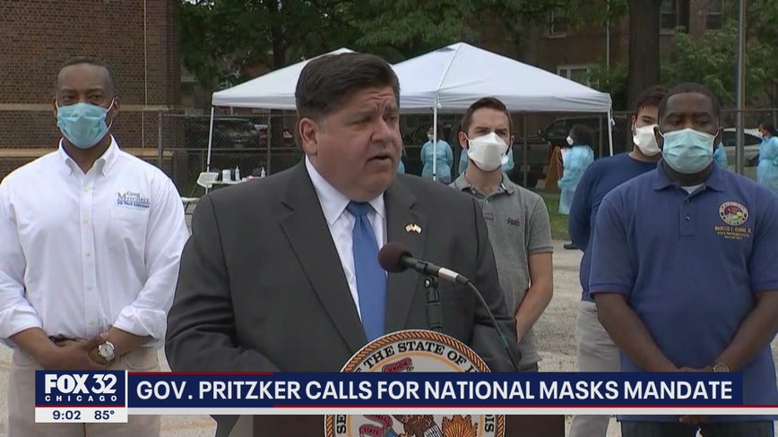 Pritzker calls for national mask mandate: 'This is not a reality TV show'