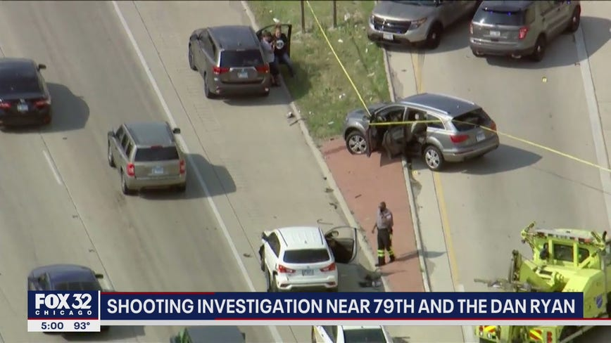 Driver shot on South Side crashes on Dan Ryan