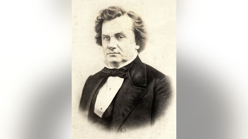 Stephen A. Douglas statue removed from Illinois Capitol lawn