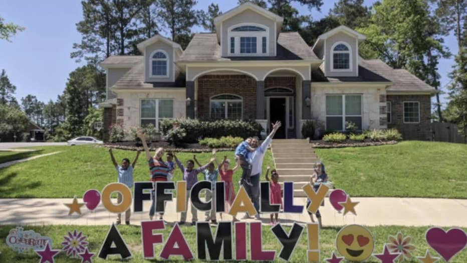 Family adopts five kids