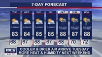 10 p.m. forecast for Chicagoland on August 10