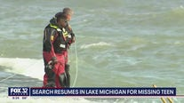 Search continues in Lake Michigan for missing teen
