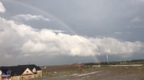 'It actually happened!' Weather enthusiast finds the end of a rainbow