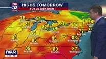 10 p.m. forecast for Chicagoland on August 5