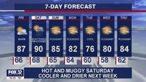 10 p.m. forecast for Chicagoland on August 13