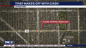 Clerk pepper-sprayed in Irving Park robbery