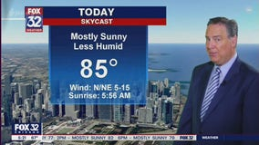 Morning forecast for Chicagoland on August 11th