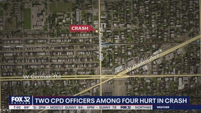 2 Chicago cops among 4 hurt in Lawndale crash