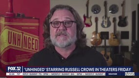 Russell Crowe talks about his new film 'Unhinged' in theaters this Friday