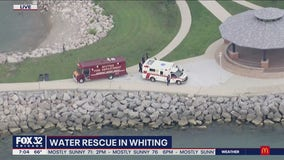 Skateboarder rescued from Lake Michigan after falling from northwest Indiana pier