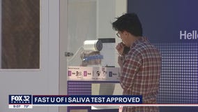 Pritzker touts U of I saliva test as possible 'game changer'