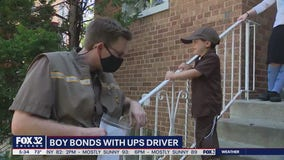 Boy forms heartwarming bond with UPS driver during pandemic