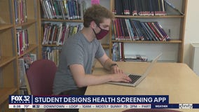 Evanston student designs health screening app