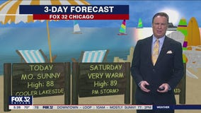 Morning forecast for Chicagoland on August 14th
