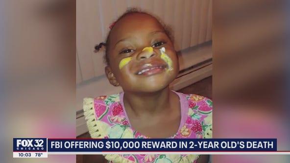 $10K reward offered in murder of 2-year-old girl caught in Hammond crossfire: FBI