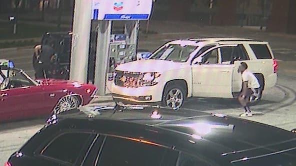 Suspected slider thief at Buckhead gas station met with gunfire