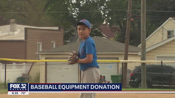 Suburban kids receive baseball equipment donation