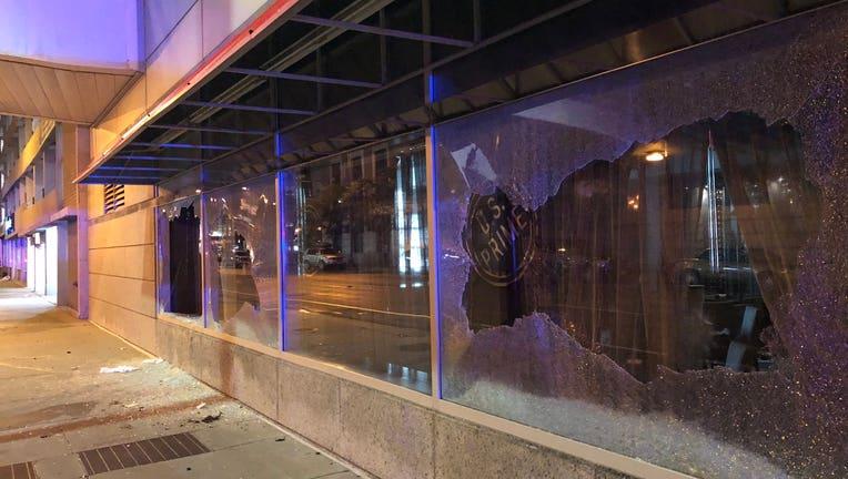 downtown damage